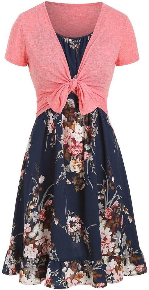 Fudule Women's Dress Clearance Women's Fudule Dress , Bow Knot Top Party Mini Dress Suits