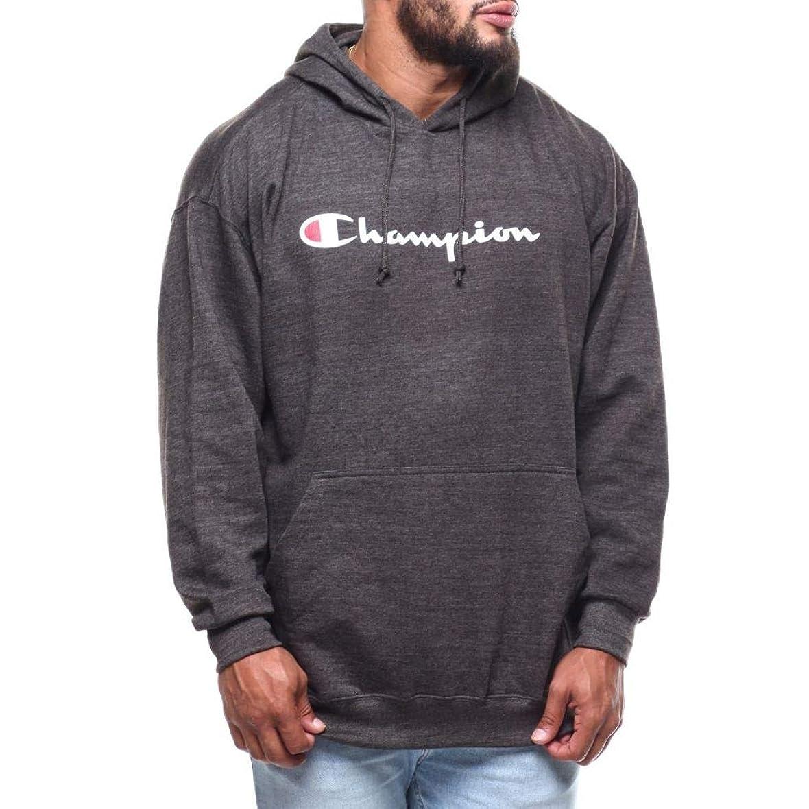 嘆く夢ピル(チャンピオン) Champion メンズ トップス パーカー p/o script printed logo hoodie (b&t) [並行輸入品]