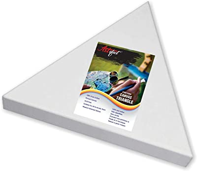 Artifact Pre Stretched White Primed Triangle Shape Canvas Frame for Acrylic and Oil Painting(Set of 1, Size 8 Inch)