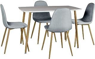 Cuisine Ensemble Table Pliante en Bois Poids:26kg S/éjour Brun+Blanc Caf/é 4 Chaises pour Salle /à Manger