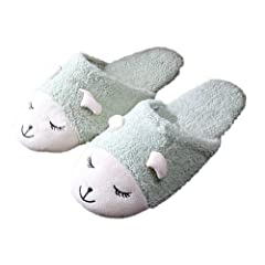 13e7a556677f Womens Animal Slippers Bunny Sheep Room Plush Size 8 Fluffy