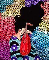 大人のための5Dダイヤモンド絵画フルラウンドドリルキット家の壁の装飾のための貼り付けられた芸術工芸品ギフト漫画の女の子50x70cm
