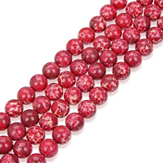 1 Strand Top Quality Natural Rose Red Impression Aqua Terra Jasper 8mm Round Sea Sediment Gemstone Beads (~ 45-47pcs) GX5-8