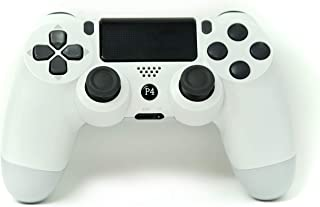 Ps4 Controller Chasdi V2 Wireless Bluetooth with USB Cable Compatible with Sony Playstation 4, Windows PC & Android (White)