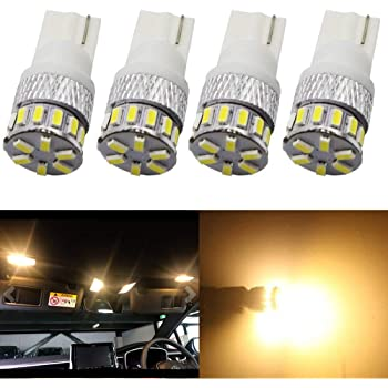 AMAZENAR 30-Pack Warm White 194 T10 W5W 168 2825 158 501 Wedge 5-SMD 5050 Chipsets LED Replacement Bulbs for 12V Car RV Interior Dome Map Door Courtesy Trunk License Plate Clearance Lights Marine ligh