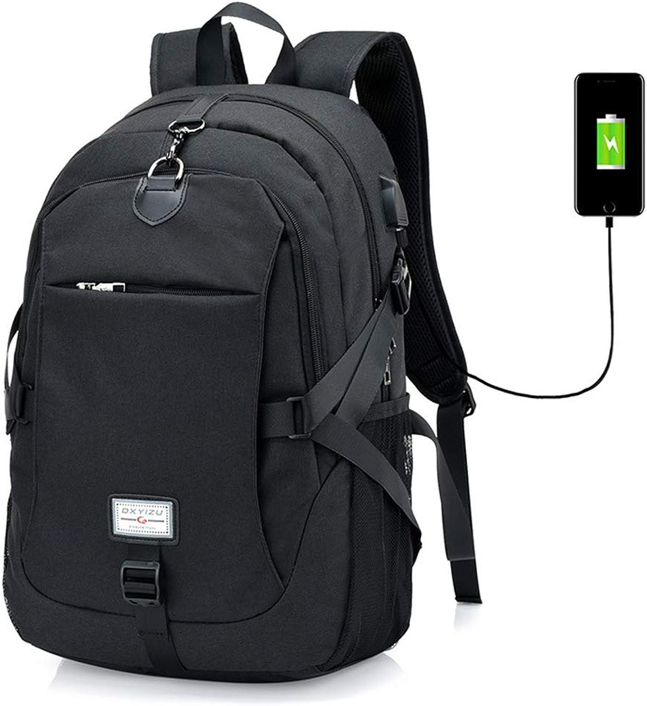 Herrentasche mit USB-Ladeanschluss Schulter Umhngetasche wasserdicht atmungsaktiv verschleifest für Sport im Freien Reiten Camping Wandern,schwarz,M
