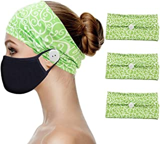 Heandbands with Buttons for Mask Holder, Soft Comfy Headwrap Ear Protection for Nurse Doctor Healthcare Workers - Premium ...