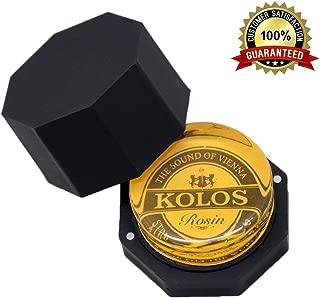 Premium Rosin-HQ Rosin for Violin Viola Cello and Erhu,Special Senior KOLOS Plastic container (Yellow KOLOS)