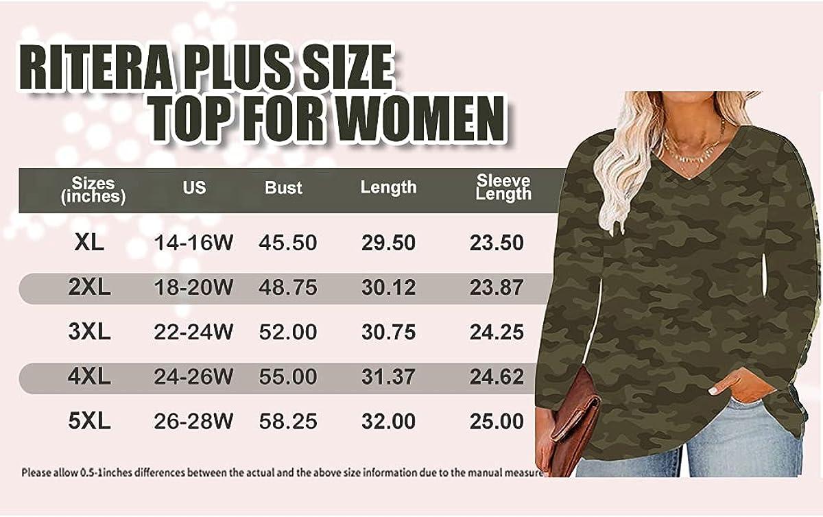 RITERA Plus Size Tops for Women Long Sleeve Casual Loose Shirts Oversized Tunic Shirt