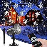 SUPCHON Luces de Proyector Navidad, Luz de la Caída de Nieve del LED Control Remoto Navidad Nieve Lámpara, con RF...