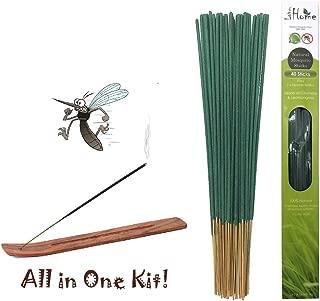 Lovhome Mosquito Sticks, Natural Insect Repellent Incense Stick(40 Sticks Plus 1 Incense Holder/Box), Citronella & Lemongrass Incense