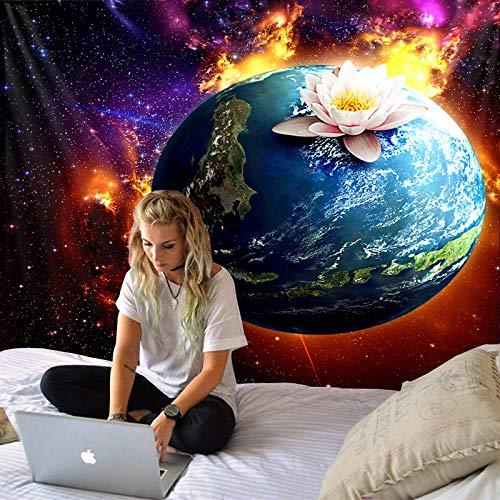 m u Sch?Ne Fantasie Planeten Druck Gro?E Wandteppich G??Nstige Hippie Wandbehang B?Hmischen Wandteppich Mandala Wand Kunst Decorati Non-Woven Fabric 200 * 150Cm Tapestry MU