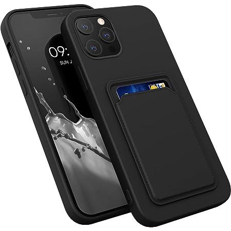 kwmobile Funda con Tarjetero Compatible con Apple iPhone 12 Pro MAX - Carcasa Protectora de TPU Suave - Negro