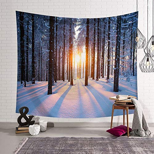 mmzki Nordic Hang Art arazzo da Parete arazzo Decorazione della casa murales Bellissimo Scenario LS-WMFJ0022 150x130