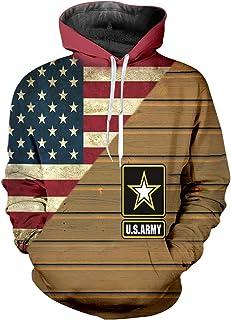 pinata US Army Pullover Hoodie Men 3D Printed Hooded Sweatshirt Casual Pockets