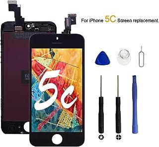 VANYUST LCD Pantalla para iPhone 5c, Táctil con Marco de Digitalización Asamblea Pantalla de Recambio para iPhone 5c Negro