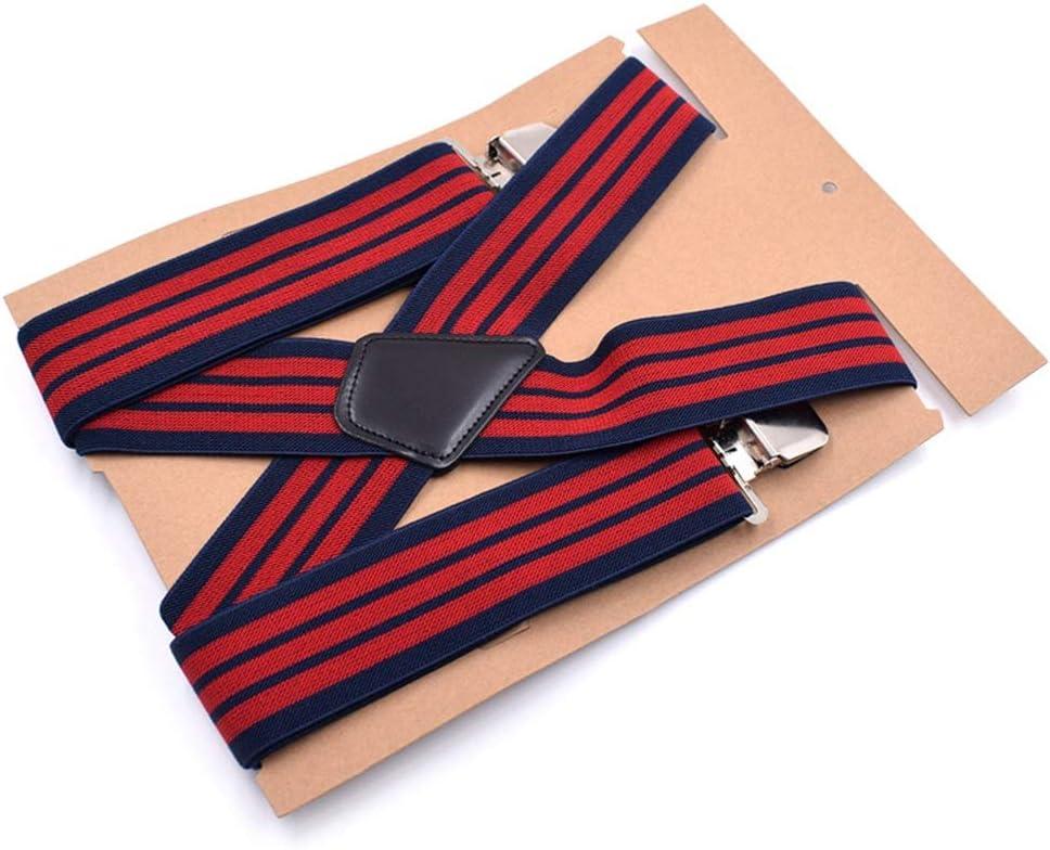 KEJI Mens X Shape Braces Adjustable Elastic Suspenders All Men and Women Braces Elastic X Form with Metal Clips Wide 5cm 1.9 Inch Adjustable Heavy Duty Suspenders One Size Fits Men's Suspenders