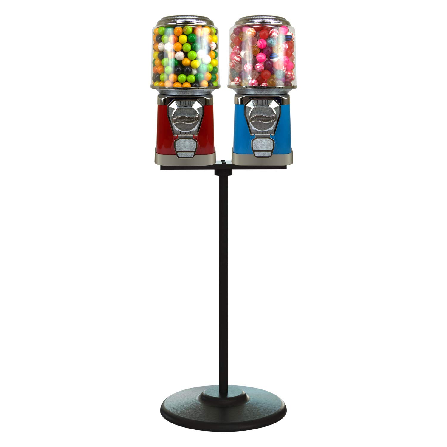 Gumball Machine National products with Al sold out. Stand - Red Vending Blue S and Machines