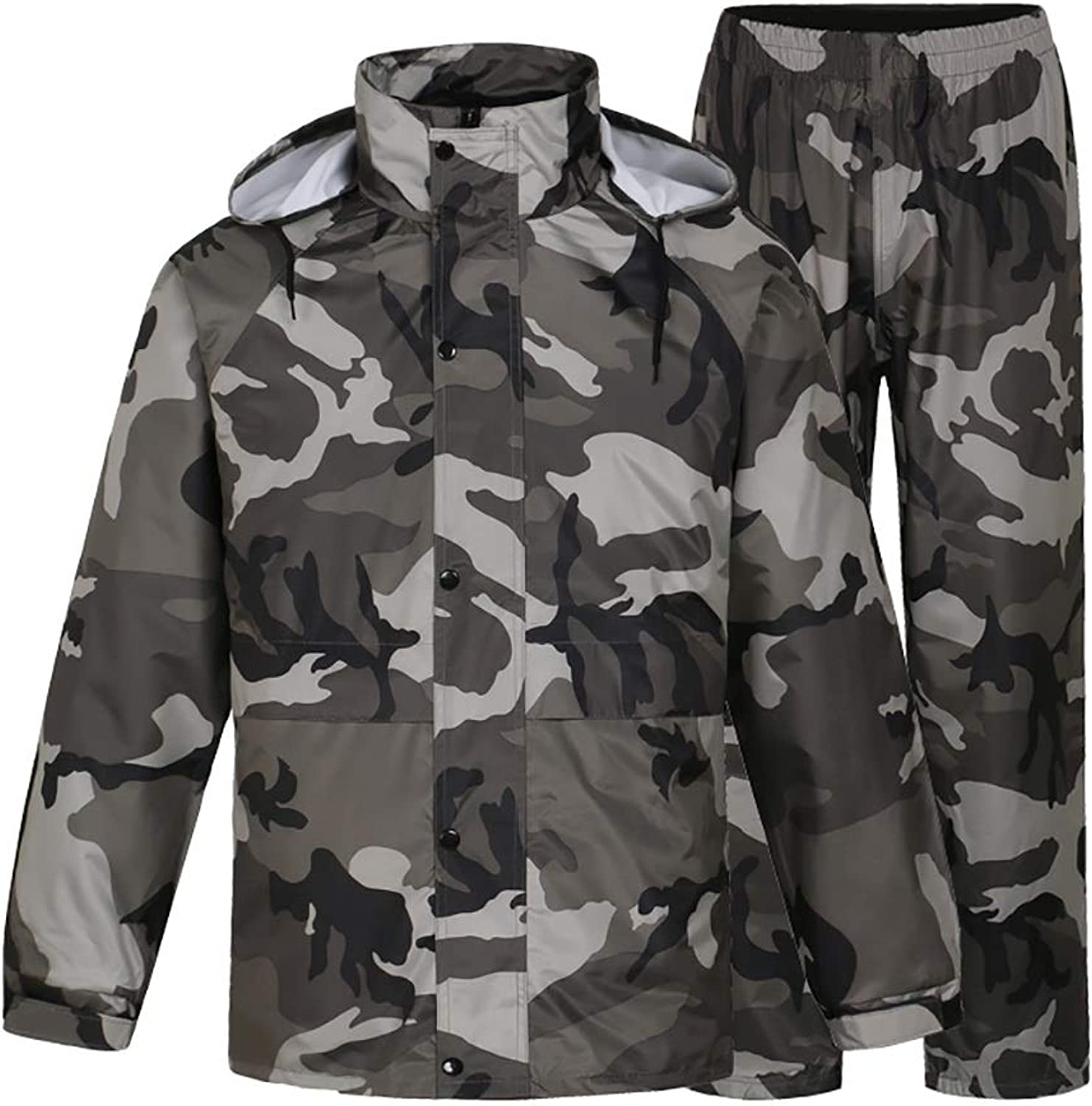 Raincoat Trouser Split Suit Camo Adult Waterproof Bicycle Motorcycle Riding Work Camping Fishing (Size   XXXL)
