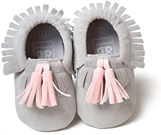 Voberry Infant Toddler Baby Boys Girls Soft Soled Tassel Crib Shoes PU Moccasins
