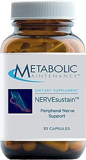 Metabolic Maintenance NERVEsustain - Peripheral Nerve + Homocysteine Support - Magnesium, B Vitamins with Methyl B12 + Fol...