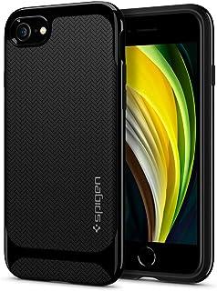Spigen Neo Hybrid Designed for Apple iPhone SE 2020 Case/Designed for iPhone 8 Case (2017) / Designed for iPhone 7 Case (2016) - Shiny Black