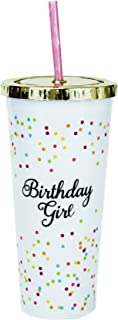 Mary Square Birthday Girl 24 oz Straw Tumbler w/Gold Lid