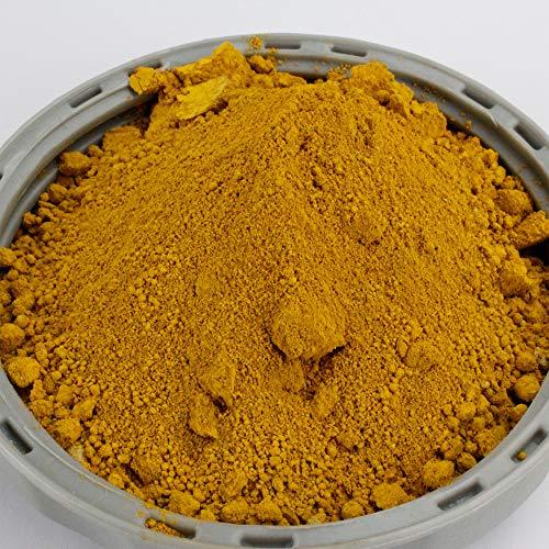@tec Pigmentpulver, Eisenoxid, Oxidfarbe - 100g (29,90 Euro/kg) im Beutel Farbpigmente, Trockenfarbe für Beton, Epoxidharz + Wand - Farbe: gelb