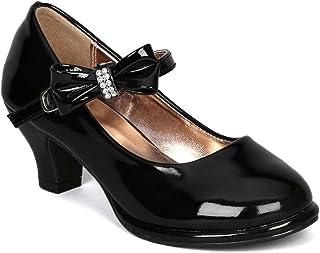 حذاء بناتي من OLIVIA KOO مزين بفيونكة ماري جاين (مقاس 9-4)