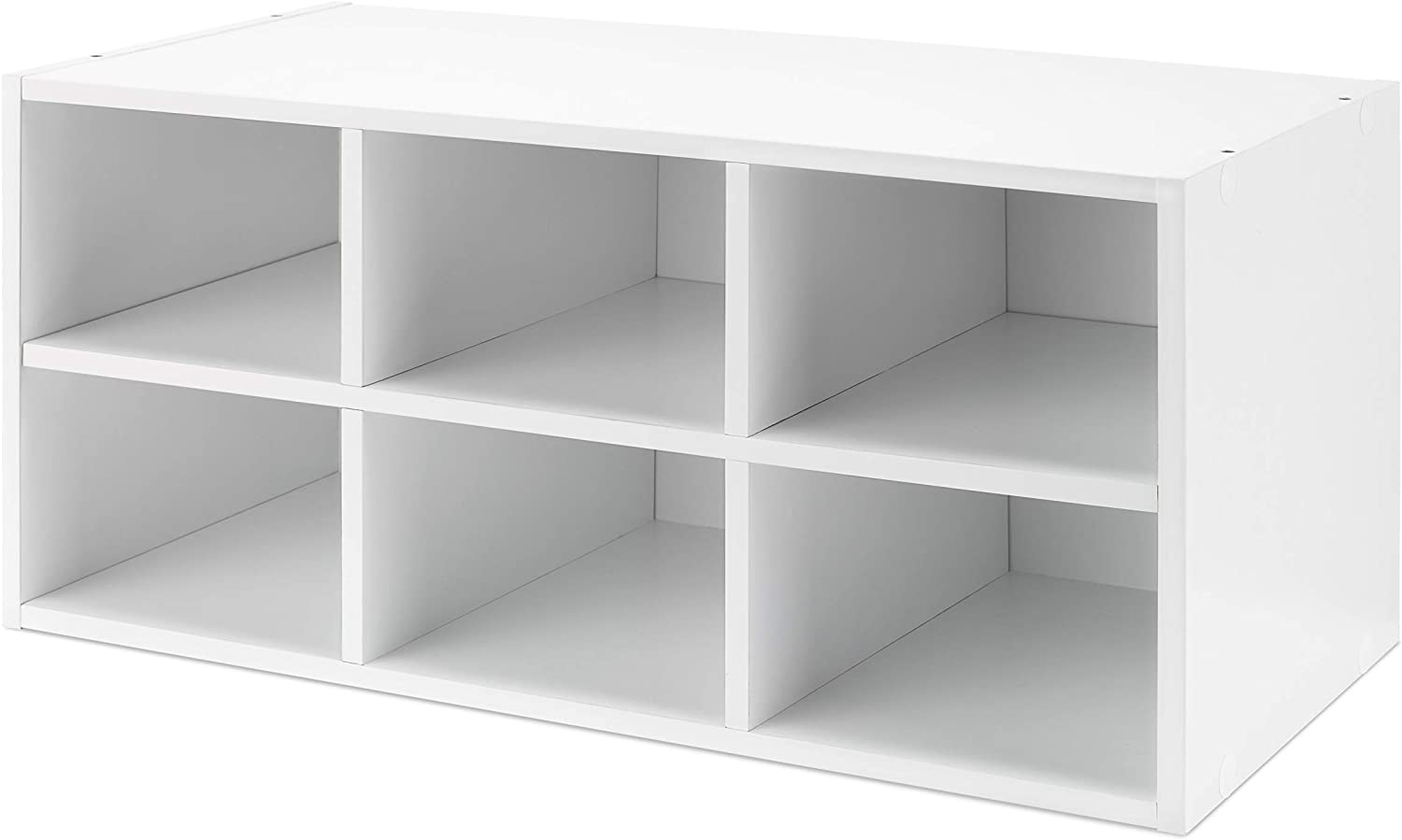 Whitmor Shipping included List price 24-inch Wood 6-Section White Stackable Organizer Cube