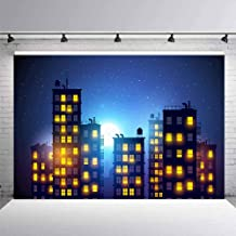 8x12 FT Vinyl Photography Background Backdrops,Abstract Urban Downtown Vibrant Silhouettes Buildings Panorama Artistic Modern Background for Child Baby Shower Photo Studio Prop Photobooth Photoshoot