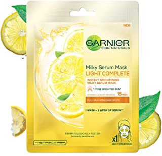 Garnier Skin Naturals, Light Complete, Face Serum Sheet Mask (Yellow), 32g