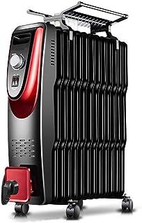 DAETNG Radiador portátil pequeño Lleno de Aceite, diseño liviano, termostato, Corte de Seguridad térmica, Cable Largo con rebobinador práctico, Secado de Ropa y humidificación,13-A