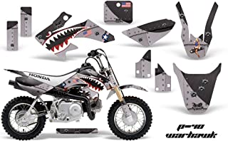 AMR Racing MX Dirt Bike Graphic Kit Sticker Decals Compatible with Honda CRF50 2004-2013 - Warhawk Black