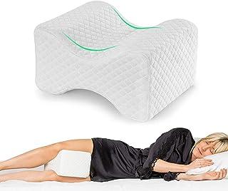 Almohada Piernas para Dormir, Cojín para almohada de pierna con espuma de memoria para dormir de lado, Almohada de apoyo