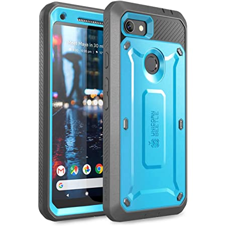 SUPCASE Unicorn Beetle Pro Series Case for Google Pixel 4 XL 2019 Release Black Full-Body Rugged Holster Case with Built-in Screen Protector
