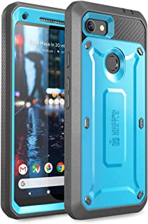 SUPCASE Unicorn Beetle Pro Series Design for Google Pixel 3a XL Case, Full-Body Rugged Holster Case with Built-in Screen Protector for Google Pixel 3a XL 2019 Release (Blue)