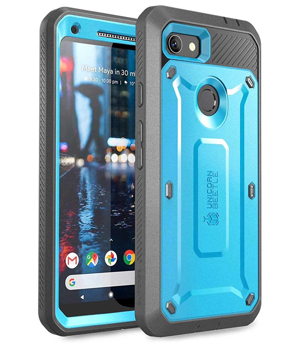 SUPCASE Unicorn Beetle Pro Series Design for Google Pixel 3a Case, Full-Body Rugged Holster Case with Built-in Screen Protector for Google Pixel 3a 2019 Release (Blue)