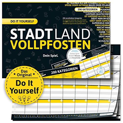 DENKRIESEN - Stadt Land VOLLPFOSTEN® - DO IT Yourself-Edition