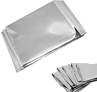 NYKKOLA 4-Pack Extra Large Emergency Mylar Blanket 84 X 52 -Gold/Silver Space Blanket: Designed for NASA - Essentials for Outdoors, Hiking, Survival, Marathons or First Aid