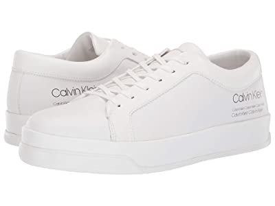 Calvin Klein Fausto (White Nappa Smooth Calf/Industrial Print) Men