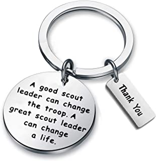 Scout Leader Gift Scout Troop Leader Key Chain A Good Scout Leader Can Change The Troop A Great Scout Leader Can Change A Life Scout Leader Master Thank You Gifts