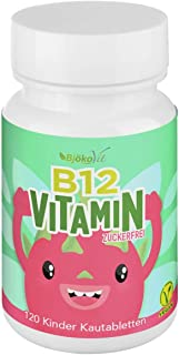 VITAMIN B12 Kinder Kautabletten – 120 Vitamintabletten mit Vitamin B 12 –..