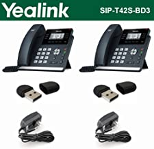 Yealink SIP-T42S IP Phone 2PACK 12Line + 2PACK Wi-Fi USB + 2PACK Power Supply