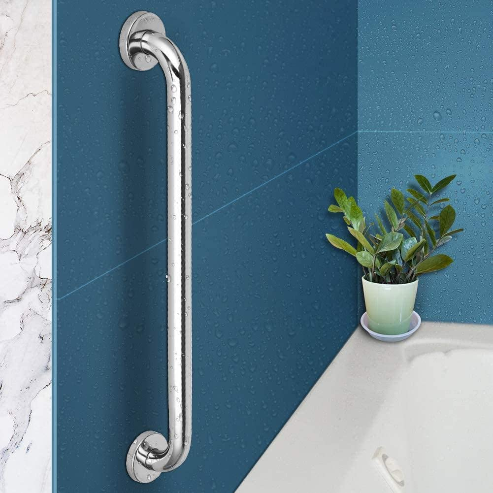 Bathroom Shower Balance Bar,Safety Hand Rail Support,Handicap Elderly Senior Assist Bath Handle 2 Pack 16 Inch Shower Grab Bar 1.25 Diameter iMomwee Chrome Stainless Steel Bathroom Grab Bar Handle