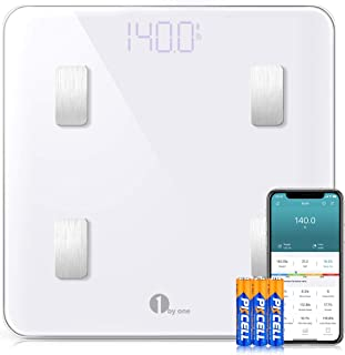 1byone Bilancia Pesa Persona Digitale Bilancia Pesapersone Impedenziometrica Intelligente Bluetooth con App per iOS e Andr...