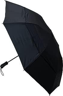 COLLAR AND CUFFS LONDON - RARE 2-Fold EXTRA STRONG Windproof Folding Umbrella - Vented Canopy - Auto - Bi-Fold - Black