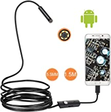 Surveillance Recorder 1/1.5/2M 7/5.5Mm Lenshd 480P USB OTG Snake Waterproof Inspection Pipe Camera for Android Phone Pc 7M...