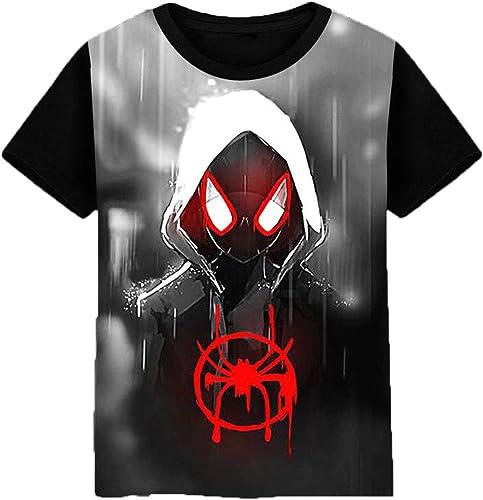 SQDNZ Spider-Man Venom T-Shirt Hommes D'été 3D Col Rond à Manches Courtes T-Shirt Avengers Alliance Venin à Manches Courtes Chemise