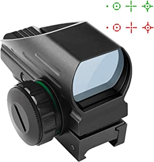 Fyland Tactical Red Dot Sight 4 Reticles Green and Red Reflex Sight for Rifle Gun with Weaver Picatinny Rail Mount